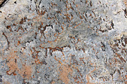 Featured Reliefs Metal Prints - Cave Drawing Metal Print by Harvey Burns