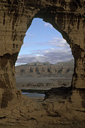 Slide Photographs Prints - Cave Dwelling Window - Guge Kingdom Tibet Print by Craig Lovell