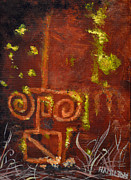Acryllic  Paintings - Cave Painting -unretouched  by Sarah Hamilton