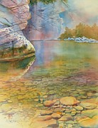 Original Watercolor Paintings - Cave Springs by Robert Hooper