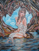 Tampa Painting Originals - Cave Woman by Lorinda Fore