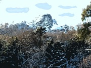 European Artwork Mixed Media Prints - Cavehill In The Snow 2 Print by Patrick J Murphy