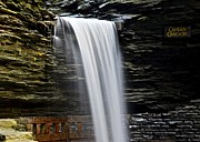 Cavern Metal Prints - Cavern Cascade Metal Print by Robert Harmon