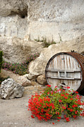 Wine Barrel Photos - Caves in Sancerre by Etta Jean Juge