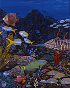 Key West Painting Originals - Cayman Reef Re0022 by Carey Chen