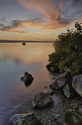 Ithaca Prints - Cayuga Sunset I Print by Michele Steffey