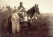 Edward Curtis Prints - Cayuse Print by Edward Curtis