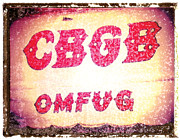 Punk Bass Framed Prints - CBGB art print Framed Print by Artful Musician NY