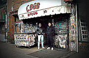 Ramones Posters - CBGB New York 1992 Poster by Timothy Lowry