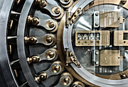 Chicago Board Of Trade Prints - CBOT Vault Door Print by James Howe