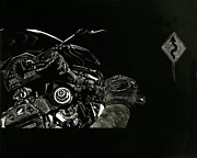 Scratchboard Art - Cbr1000rr by Matthew Jarrett