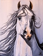 Horse Drawings Prints - CC Beau Tiki  Print by Cheryl Poland