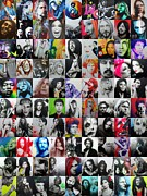 Young Painting Prints - ccart Mosaic - Series I Print by Christian Chapman Art