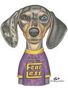 Dachshund Art Art - CeCe by Danny Gordon
