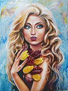 Woman Paintings - Cece by Yelena Rubin