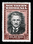 Zimbabwe Metal Prints - Cecil John Rhodes - 1.5d Black Metal Print by Outpost Imagery