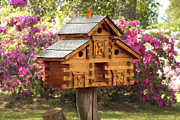 Colorful Digital Art - Cedar Birdhouse by Mike McGlothlen