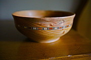 Bob Hasbrook - Cedar Bowl with inlay