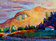 Folk Realism Paintings - Cedar Cliff Summit Dawn by Lisa Blackshear