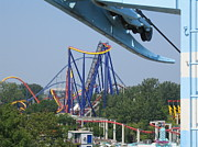 Cedar Point - Mantis - 121211 Print by DC Photographer