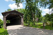 Cedarburg Prints - Cedarburg Covered Bridge Print by John Wilke