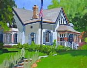 Cedarburg Prints - Cedarburg Historic Home Print by Anthony Sell