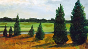 Cedars Paintings - Cedars by Robert Harvey