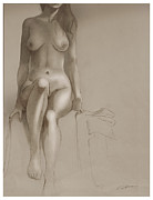 Nudes Drawing Drawings - Cedars XII by Craig Carl