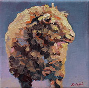 Sheep Paintings - Cedric by Patricia A Griffin