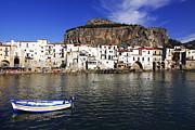 Port Town Photo Framed Prints - Cefalu - Sicily Framed Print by Stefano Senise