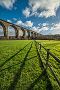 Rail Digital Art Posters - Cefn Viaduct Chirk Poster by Adrian Evans