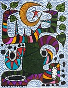 Aboriginal Art Paintings - Ceiba-Carnaval by Sandra Perez-Ramos