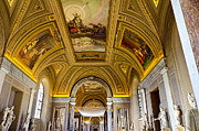 Vatican City Framed Prints - Ceiling Art - Vatican Museum Framed Print by Jon Berghoff