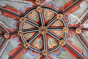 Linda Queally Metal Prints - Ceiling Medallion Tepoztlan Metal Print by Linda Queally