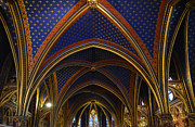 Vaults Posters - Ceiling of the Sainte-Chapelle  Paris Poster by RicardMN Photography