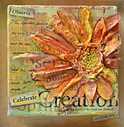 Matt Mixed Media Prints - Celebrate Creation Print by Lisa Fiedler Jaworski
