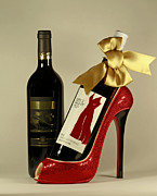 High Heeled Prints - Celebrate in Style With Merlot and Cabernet Print by Inspired Nature Photography By Shelley Myke
