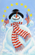 Patriotic Painting Originals - Celebrate by Richard De Wolfe
