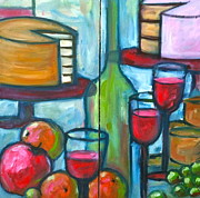 Wine Glasses Painting Originals - Celebrate the Day by Linda Rhea