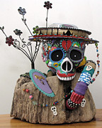 Recycle Art Sculptures - Celebrate...Rejoice...Remember by Keri Joy Colestock