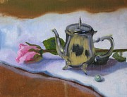 Silver Tea Pot Paintings - Celebrating Spring by Thea David