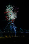 Benjamin Franklin Prints - Celebration at the Ben Franklin Bridge Print by David Hahn