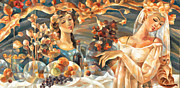Women With Wine Prints - Celebration Print by C Sherry
