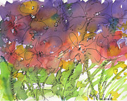 Watercolor And Ink Paintings - Celebration in Flowers by Kathleen McElwaine
