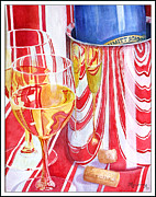 Ice Wine Painting Posters - Celebration Poster by Mariarosa Rockefeller