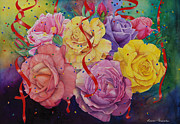 Celebrations Paintings - Celebration of Roses by Luane Penarosa