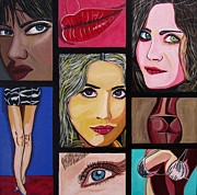 Fame Painting Originals - Celebrity by Sandra Marie Adams