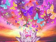 Celestial Butterfly Print by Alixandra Mullins