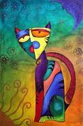 Celestial Cat Print by Laura Barbosa