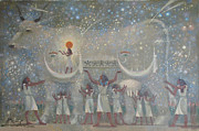 Hieroglyphics Paintings - Celestial con by Valentina Kondrashova
